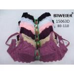 Бюстгальтер BIWEIER кружевной с подкладкой на пол чашки, D-ка  15063D