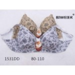 Бюстгальтер гладкий без косточек с рисунком по ткани DD-ка  1531DD