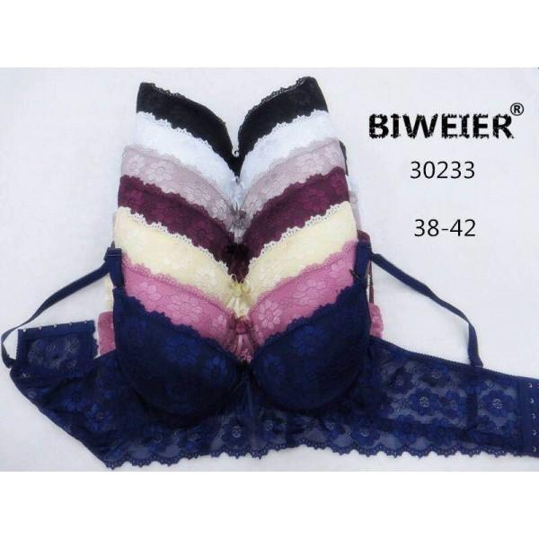 Бюстгальтер BIWEIER широкий c кружевными чашками и кружевной спинкой  3-ка  30233