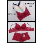 Комплект белья BIWEIER кружевной (бюстье 3-ка+шорты)  К70744