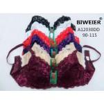 Бюстгальтер BIWEIER двухцветный кружевной с подкладкой DD-ка  A12030DD_белый