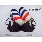 Бюстгальтер BIWEIER с гладкими чашками и кружевными боками 2-ка  83702B