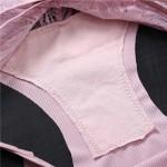 Трусики - слипы FINETOO в рубчик с резинками на бедрах и кружевом сзади  15053
