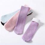 Носочки женские зимние пастельные цвета с начёсом внутри  W010