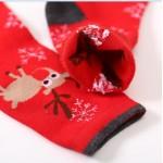 Носочки женские зимние с новогодними оленями  W011