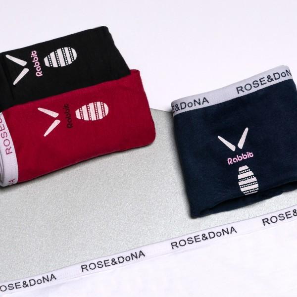 Трусики - слипы ROSE&DONA хлопок с надписью на резинке и принтом  ST8129