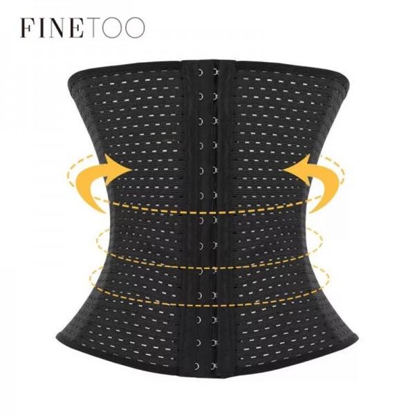 Корсет для талии   FINETOO   утягивающий   дышащий   с застёжкой  S0021