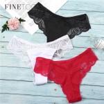 Трусики - слипы | FINETOO | с кружевом | хлопок  607