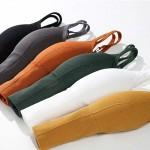 Топ - бралетт в рубчик, GUO LY, с эластичной резинкой и открытой спинкой, 2 - ка  8101_серый и др. цвета