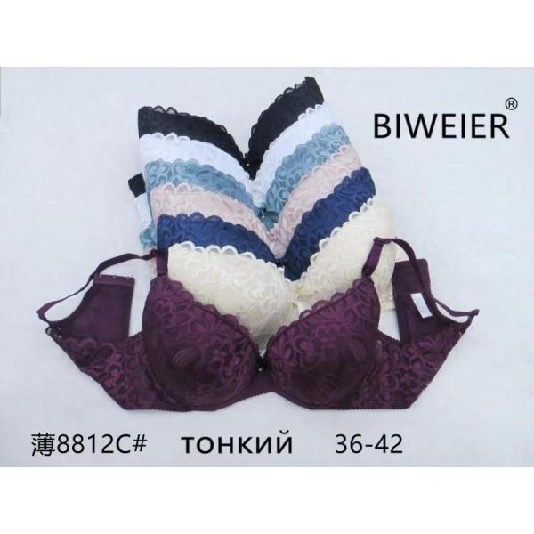 Бюстгальтер BIWEIER кружевной с красивой спинкой, 3-ка  8812C