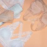 Комплект белья | GUO LY | кружевной (бралет 1.5-ка + трусики слипы)  K80303