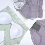 Комплект белья в рубчик с кружевом GUO LY (бралет 1.5-ка + трусики слипы)  K80306