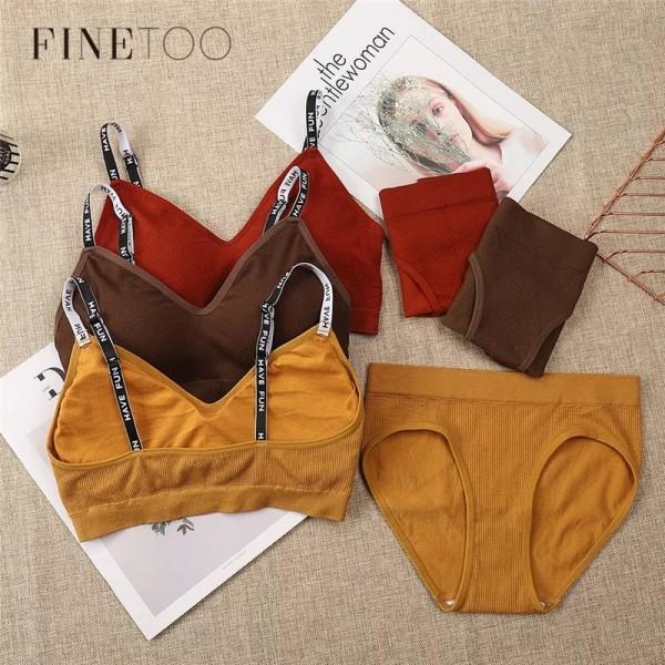 Комплект белья | FINETOO | из хлопка, в рубчик, плотный  T038