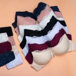 Комплект белья из бюстгальтера и стрингов | BIWEIER | с кружевом | 2-ка  K71707B_белый и др. цвета
