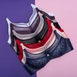 Бюстгальтер BIWEIER кружевной, с сеточкой на декольте, 3-ка  30933С_фиолет и др. цвета