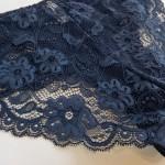 Трусики - слипы из хлопка с кружевными вставками, BIWEIER  3005_синий и др. цвета