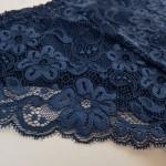 Трусики - слипы из хлопка гладкие спереди, кружевные сзади, BIWEIER  3003_синий и др. цвета