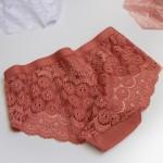 Трусы - слипы из хлопка, с кружевом и широкой резинкой, BIWEIER  1319_розовый и др. цвета