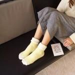 Носочки женские, Meihaozu, зимние махровые  W028_желтый