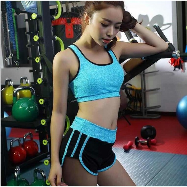 Комплект спортивный меланж (топ А/В+шорты)  К2188