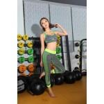 Комплект спортивный меланж (топ В/С+леггинсы)  К2189
