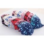 Комплект белья с цветами по ткани (бюстгальтер 3-ка+трусики)  К3180